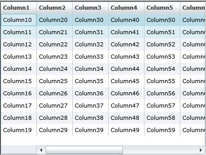 Silverlight 2 DataGrid with Frozen Column